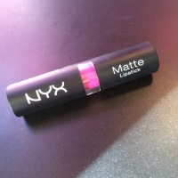 New NYX matte lipstick in shocking pink