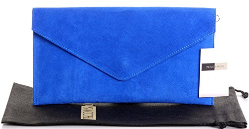 Primo-Sacchi-Italian-Suede-Leather-Royal-Blue-Envelope-Design-Clutch,-Wrist,-Shoulder-or-Crossbody-Bag.-Includes-a-Branded-Protective-Storage-Bag-363104965